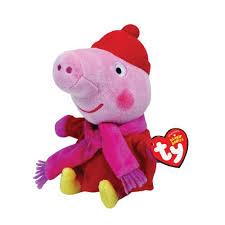 Peppa Pig Plush Peppa Pig Beanie Winter Plush Peppa Pig Toys Peppa Pig Merchandise