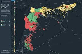 Syria Fighting Map by Syria Conflict Mapping Project Geographical Imaginations