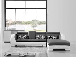 Modern White Bonded Leather Sectional Sofa Rare Design Leather Sofa Fabric Seats Refreshing Sofa Shops In