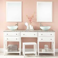 Bathroom Vanity With Makeup Counter by Double Sink Freestanding Vanity Signature Hardware