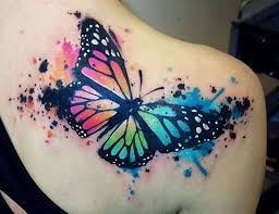collection of 25 butterfly eye on back shoulder