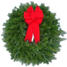 christmas tree delivery fresh decorated balsam bow christmas wreath christmas