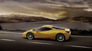 ferrari yellow download wallpaper 1920x1080 ferrari 458 italia yellow car side