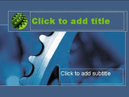 blue flywheel design slides template for powerpoint 2003 or newer
