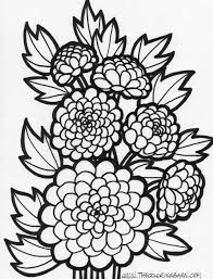 free coloring page flowers