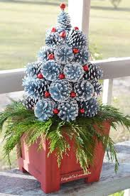 how to make pine cone trees cottage at the crossroads