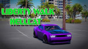 liberty walk hellcat forza horizon 3 sliding a liberty walk hellcat youtube