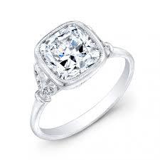 cushion diamond ring canadian cushion cut diamond engagement ring vintage inspired