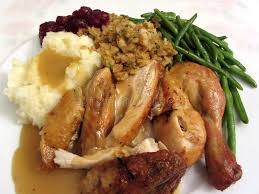 roast chicken for thanksgiving stock photo image of plate