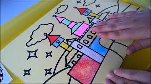 sand art for children making a sand art picture with kids bee