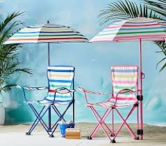 Sports Chair With Umbrella Kids Beach Chairs Outdoor Chairs U0026 Umbrellas Pottery Barn Kids