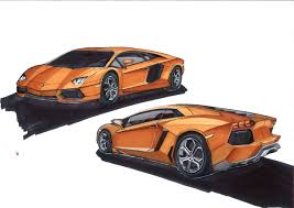 lamborghini aventador sketch drawn lamborghini promarker pencil and in color drawn