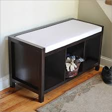 Cushioned Storage Bench Bench Design Inspiring Small Cushioned Bench Narrow Entryway