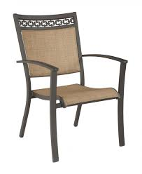 Patio Sling Chair Carmadelia Patio Sling Chairs Set Of 4 Chairs