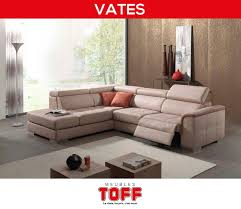 toff canapé meubles toff vates canapé en tissu avec des relax