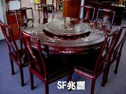 solid rosewood furniture round dining table set mother of pearl