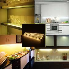 4pcs led under cabinet light stick on strip lighting ac 100 240v