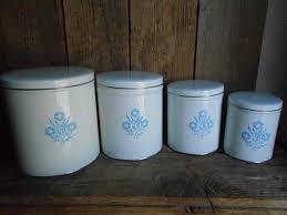vintage metal kitchen canister sets vintage metal canister set made in usa tuttle corp blue cornflower