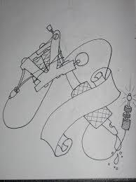 tattoo gun sketch tattoo machine outline by armada27 on deviantart