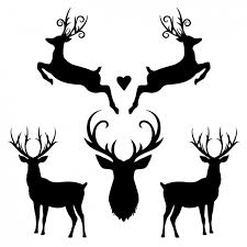 free silhouette images deer silhouette collection vector free download