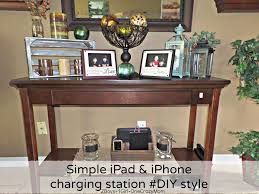 end table with charging station sauder shoal creek smartcenter
