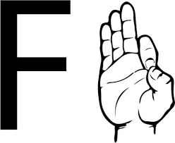 asl sign language letter f coloring page free printable coloring pages