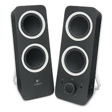 enceinte bureau logitech multimedia speakers z200 noir enceinte pc logitech sur