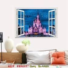 Castle Kids Room by Aliexpress Com Buy 3d Window Castle Wall Stickers Home Decals