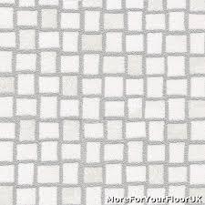 white silver mosaic tile vinyl flooring slip resistant lino 2m