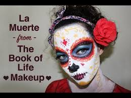 La Muerte Costume La Muerte La Catrina Book Of Life Face Paint Tutorial Youtube