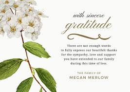 sympathy thank you cards bereavement thank you card sympathy thank you note wording
