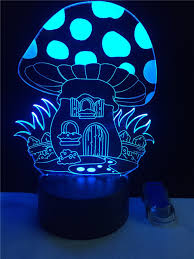 veilleuse chambre magie chignons 3d stéréo veilleuse led creative chambre