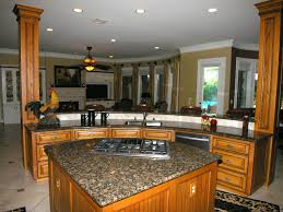 great l shape small kitchen decoration using dark brown granite