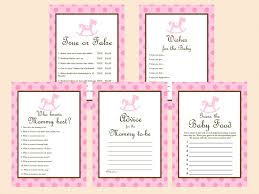 pink rocking horse baby shower games magical printable