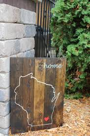 Personalized Wood Signs Home Decor Love Where You Live Customizable Personalized Wood State Sign