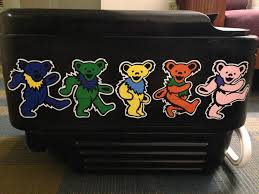 grateful dead bears painted cooler ideas grateful
