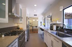 narrow kitchen design ideas long kitchen design long narrow kitchen houzz impressive design