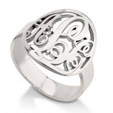 monogrammed rings monogram rings
