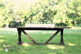 Free Picnic Table Plans 8 Foot by Ana White Fancy X Farmhouse Table Diy Projects
