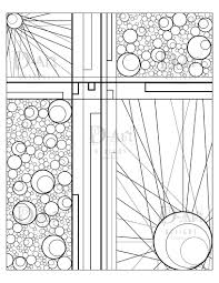 abstract coloring page pattern digital print instant