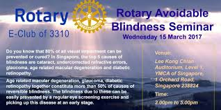 Time Blindness World Speech Day Singapore 2017 Rotary Avoidable Blindness