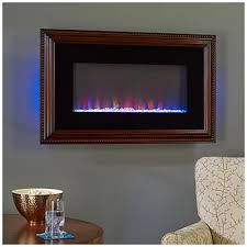Big Lots Electric Fireplace 36 Wall Mount Wood Frame Electric Fireplace At Big Lots This