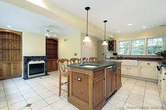 grey flooring kitchen natural wood cabinets http www kitchen