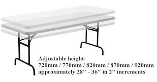 6 ft adjustable height table 6ft commercial trestle table adjustable height crafttable