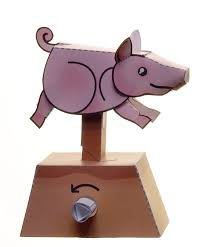 running pig paper automaton by kamibox on deviantart