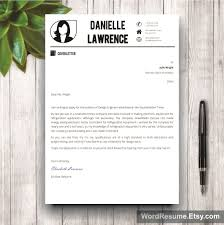 Resume Template On Word 2007 Modern Resume Template Cover Letter Word U2013 U201cdanielle Lawrence U201d