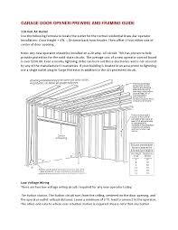 AmadorGarageDoorscom Garage Door Framing Guide