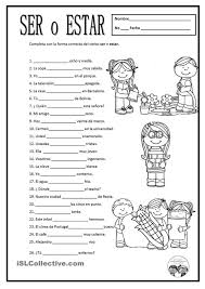 free spanish worksheets ser o estar for some of these either
