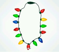 flashing christmas light bulbs led christmas light up holiday glow necklace flashing christmas