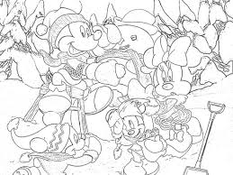 mickey winter coloring pages getcoloringpages com
